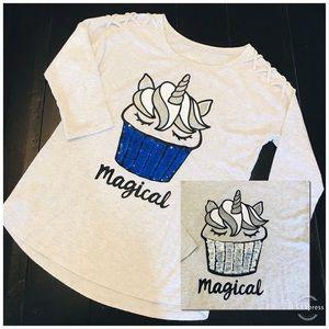 JUSTICE Unicorn Cupcake Flip Sequin Shirt 14/16